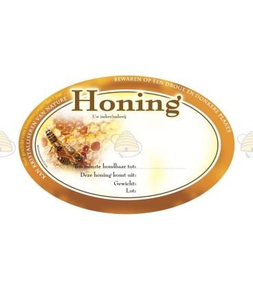 Honingetiketten met eigen ontwerp 1000 stuks