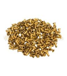 Ösen 500 Stk. 6x3 mm gelbes Kupfer (Messing)