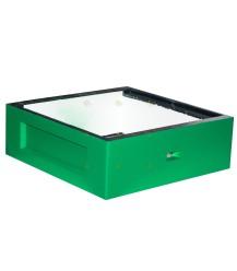 Waben-Sparbox grün lackiertes Polystyrol mit extra Fliegenöffnung