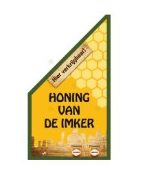 "Kioskfahne ""Honig vom Imker"", in rot oder grün"