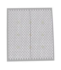 Aufbewahrungsbox Polystyrol / Simplex-Drehzapfen gelocht Aluminium 46 x 46 cm