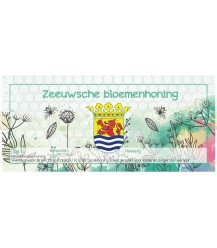Zeeland-Blütenhonig-Aquarell-Etikett (rechteckig)