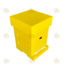 BeeFun Aufbewahrungsbox gelb lackiertes Polystyrol