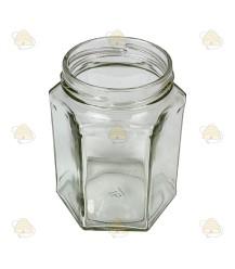 Sechseckiges Glas 278 ml / 350 g, ohne Deckel