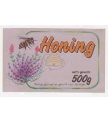 Honig-Etikett mit Lavendelblüten